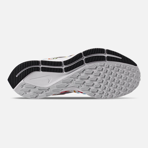 Bottom view of Women's Nike Air Zoom Pegasus 35 Graphic Running Shoes in Pure Platinum/Black/White