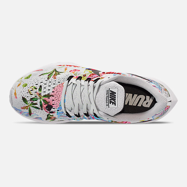 Top view of Women s Nike Air Zoom Pegasus 35 Graphic Running Shoes in Pure  Platinum  1fae11cdc