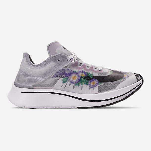 Right view of Women s Nike Zoom Fly SP Graphic RS Running Shoes in Pure  Platinum  01b0a76963c5