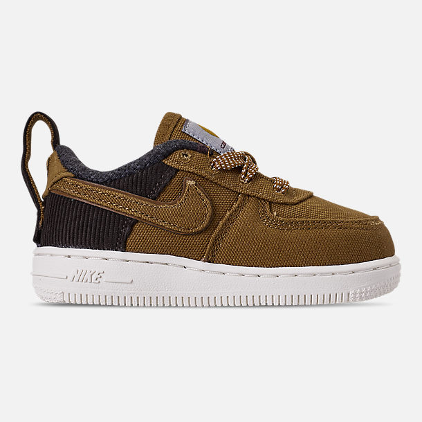 Right view of Boys' Toddler Nike Air Force 1 '07 Premium x Carhartt WIP Casual Shoes