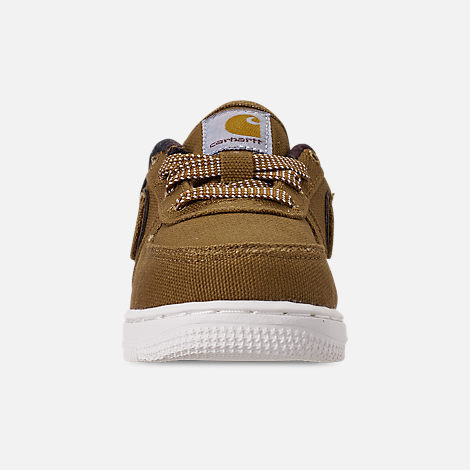 Front view of Boys' Toddler Nike Air Force 1 '07 Premium x Carhartt WIP Casual Shoes