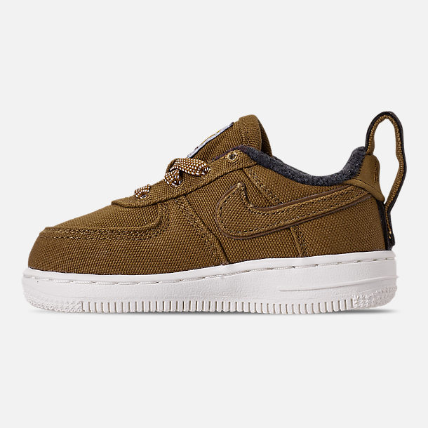 Left view of Boys' Toddler Nike Air Force 1 '07 Premium x Carhartt WIP Casual Shoes