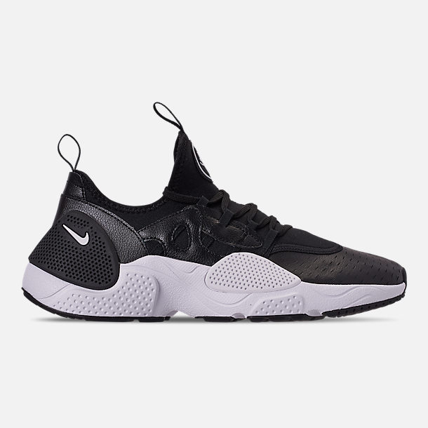 Right view of Men's Nike Huarache E.D.G.E. Leather Running Shoes in Black/White