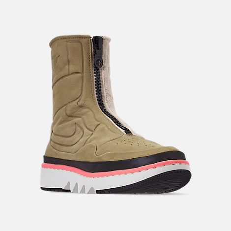 Three Quarter view of Women's Air Jordan 1 Jester XX Utility Casual Shoes in Parachute Beige/Black