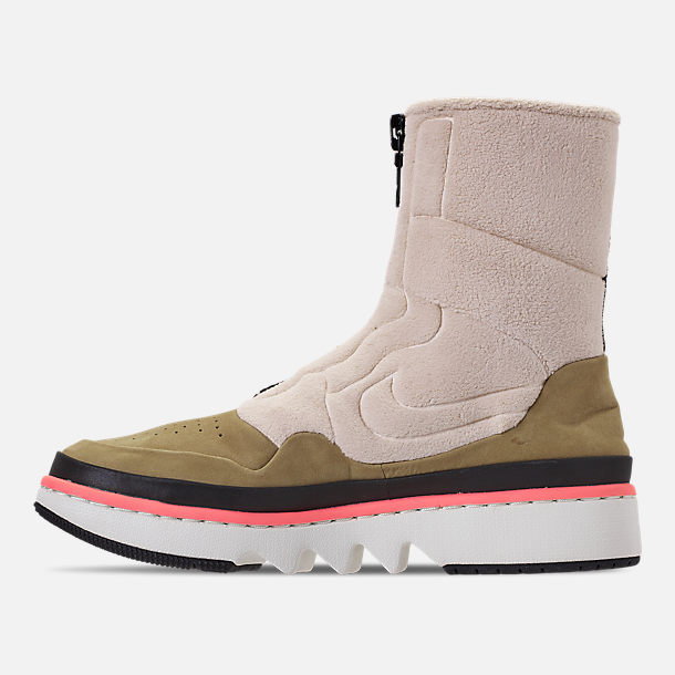Left view of Women's Air Jordan 1 Jester XX Utility Casual Shoes in Parachute Beige/Black