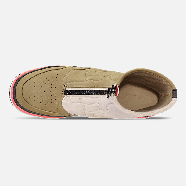 Top view of Women's Air Jordan 1 Jester XX Utility Casual Shoes in Parachute Beige/Black