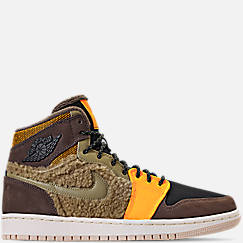 Women's Air Jordan Retro 1 High Premium Utility Casual Shoes