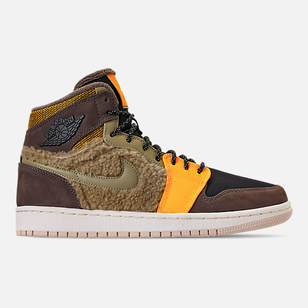 74f19588a724 ... where to buy right view of womens air jordan retro 1 high premium  utility casual shoes ...