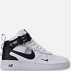 Boys' Big Kids' Nike Air Force 1 Mid LV8 Leather Casual Shoes