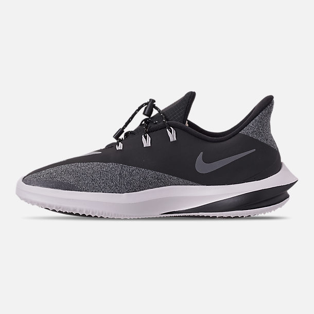 Left view of Boys' Big Kids' Nike Future Speed Shield Running Shoes in Black/Reflect Silver/Cool Grey/Vast