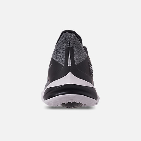 Back view of Boys' Big Kids' Nike Future Speed Shield Running Shoes in Black/Reflect Silver/Cool Grey/Vast