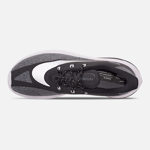 Top view of Boys' Big Kids' Nike Future Speed Shield Running Shoes in Black/Reflect Silver/Cool Grey/Vast