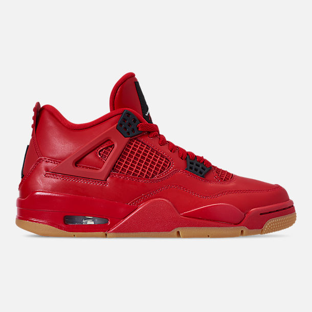 Right view of Women's Air Jordan Retro 4 NRG Basketball Shoes in Fire Red/Summit White/Black