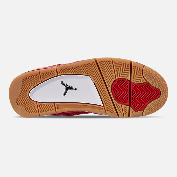 super popular 34489 6a656 Bottom view of Women s Air Jordan Retro 4 NRG Basketball Shoes in Fire Red  Summit