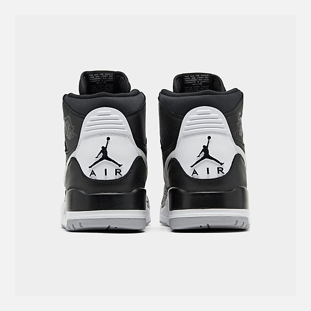 Left view of Men's Air Jordan Legacy 312 Off-Court Shoes in Black/White
