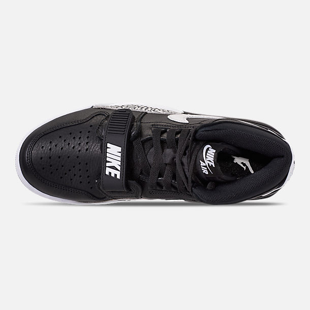 Top view of Men's Air Jordan Legacy 312 Off-Court Shoes in Black/White