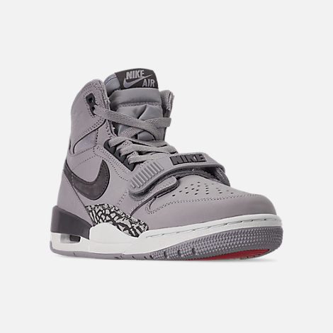 Three Quarter view of Men's Air Jordan Legacy 312 Off-Court Shoes in Wolf Grey/Graphite/Sail