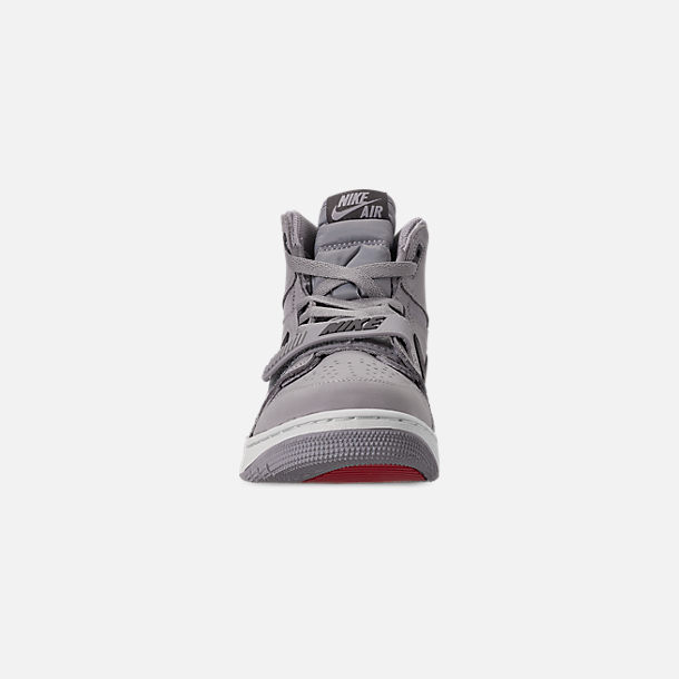 Front view of Men's Air Jordan Legacy 312 Off-Court Shoes in Wolf Grey/Graphite/Sail