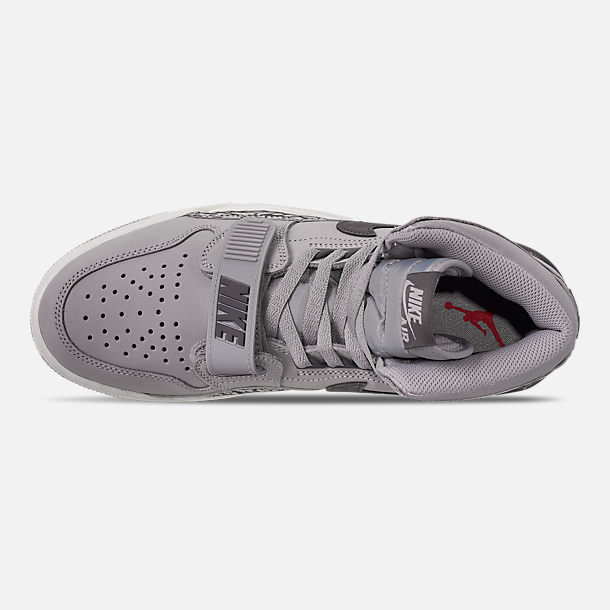 Top view of Men's Air Jordan Legacy 312 Off-Court Shoes in Wolf Grey/Graphite/Sail