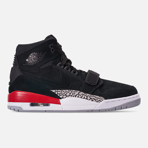 Right view of Men's Air Jordan Legacy 312 Off-Court Shoes in Black/Black/Varsity Red