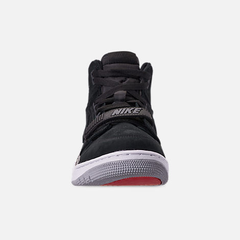 Front view of Men's Air Jordan Legacy 312 Off-Court Shoes in Black/Black/Varsity Red