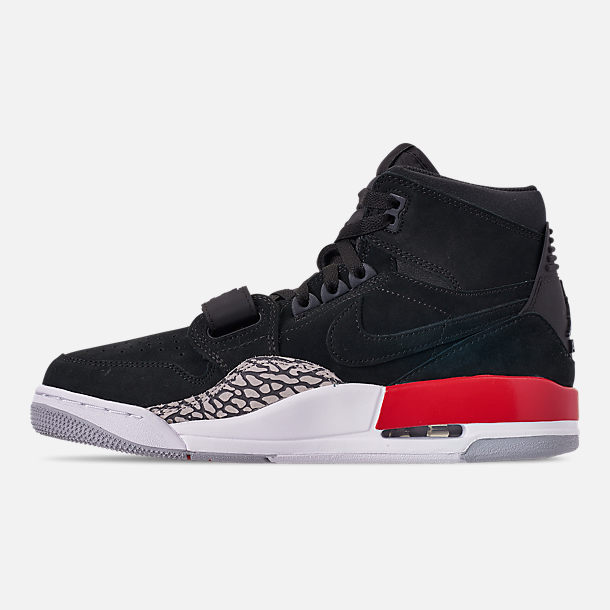 Left view of Men's Air Jordan Legacy 312 Off-Court Shoes in Black/Black/Varsity Red