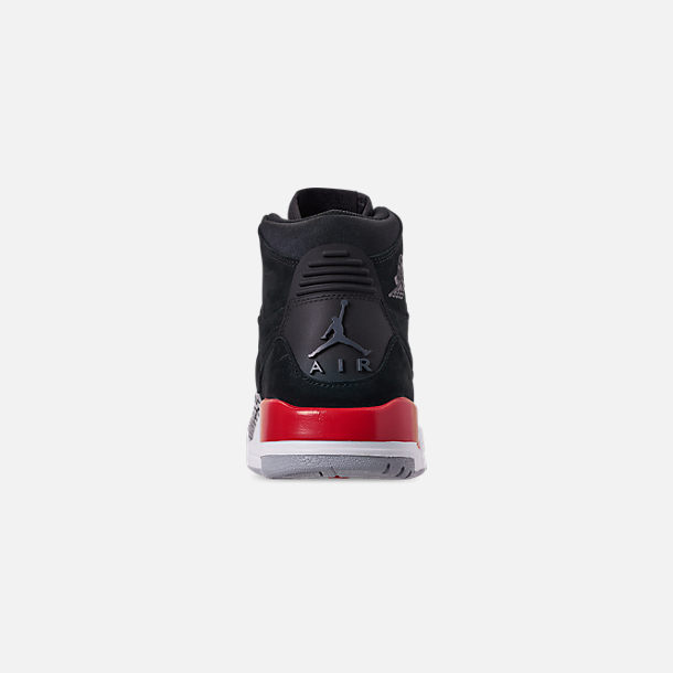Back view of Men's Air Jordan Legacy 312 Off-Court Shoes in Black/Black/Varsity Red