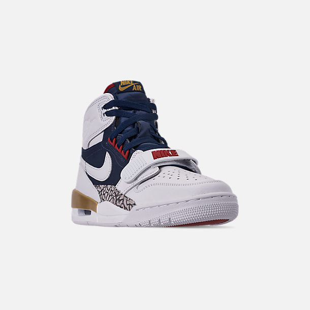 new product 8ba70 53cdf Three Quarter view of Men s Air Jordan Legacy 312 Off-Court Shoes in White