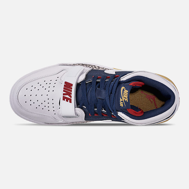 online store 5cdb2 46f17 Top view of Men s Air Jordan Legacy 312 Off-Court Shoes in White White