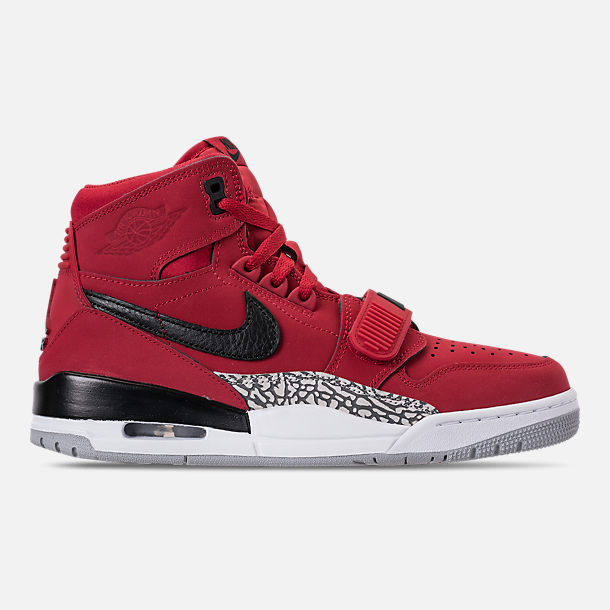 Right view of Men's Air Jordan Legacy 312 Off-Court Shoes in Varsity Red/White/Black