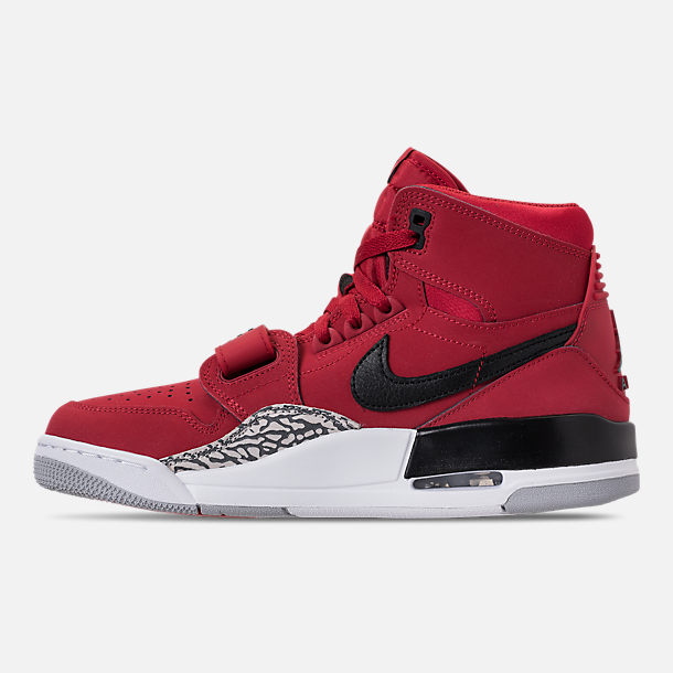 Left view of Men's Air Jordan Legacy 312 Off-Court Shoes in Varsity Red/White/Black