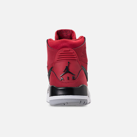 Back view of Men's Air Jordan Legacy 312 Off-Court Shoes in Varsity Red/White/Black