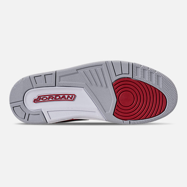Bottom view of Men's Air Jordan Legacy 312 Off-Court Shoes in Varsity Red/White/Black