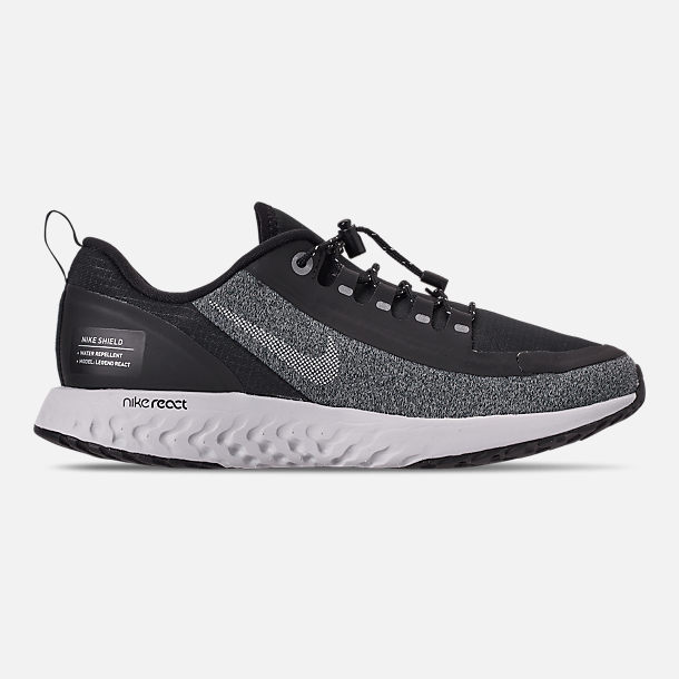 e769e8a3742 Right view of Boys  Big Kids  Nike Epic React Shield Running Shoes in Black