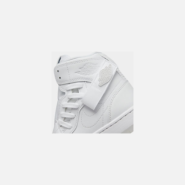 Front view of Women's Air Jordan 1 Nova XX Casual Shoes in White/Black/White