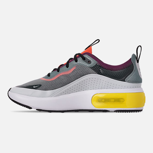 Left view of Women's Nike Air Max DIA SE Casual Shoes in Grey/Black/Off White