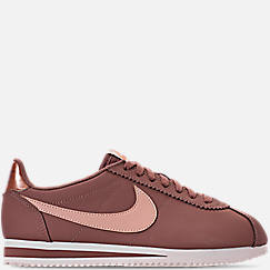 Women's Nike Classic Cortez Leather Metallic Casual Shoes