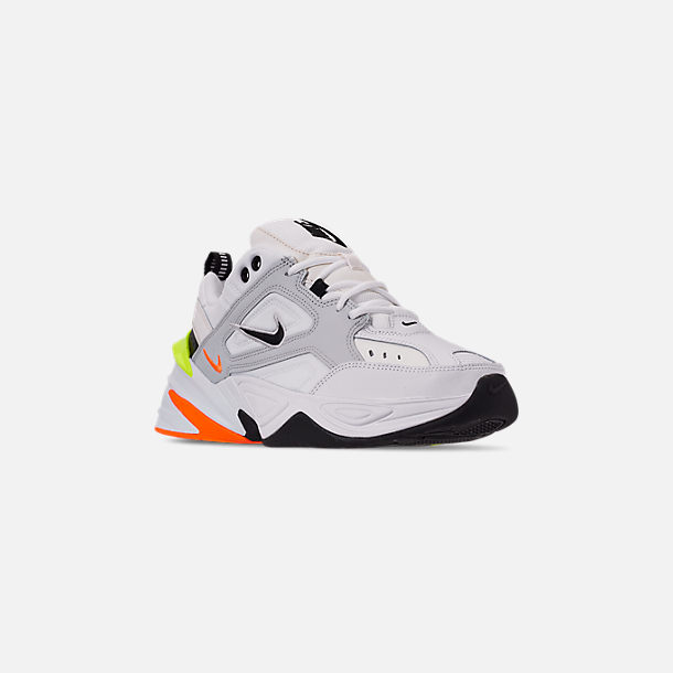 Three Quarter view of Men's Nike M2K Tekno Casual Shoes in Pure Platinum/Black/Sail/White