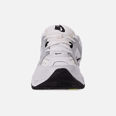 Front view of Men's Nike M2K Tekno Casual Shoes in Pure Platinum/Black/Sail/White