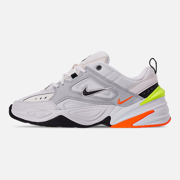 Left view of Men's Nike M2K Tekno Casual Shoes in Pure Platinum/Black/Sail/White
