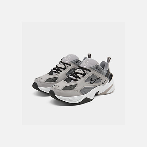 Three Quarter view of Men's Nike M2K Tekno Casual Shoes in Atmosphere Grey/Cool Grey/Black/White