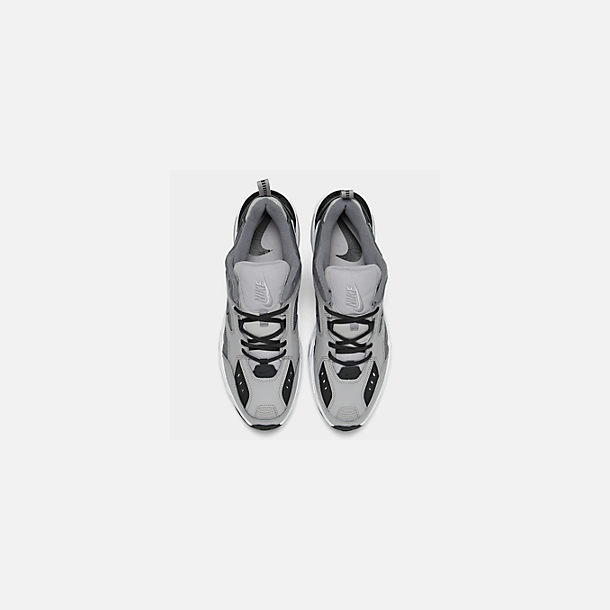 Back view of Men's Nike M2K Tekno Casual Shoes in Atmosphere Grey/Cool Grey/Black/White