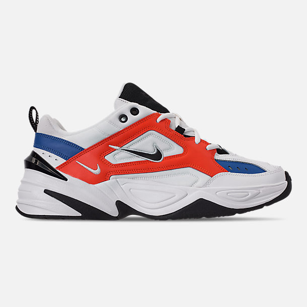 Right view of Men's Nike M2K Tekno Casual Shoes in Summit White/Black/Team Orange
