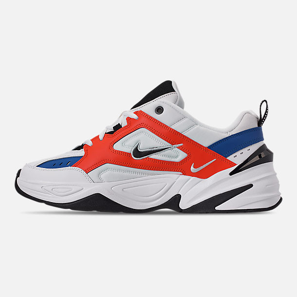 Left view of Men's Nike M2K Tekno Casual Shoes in Summit White/Black/Team Orange