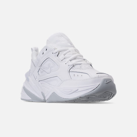 Three Quarter view of Men's Nike M2K Tekno Casual Shoes in White/Pure Platinum
