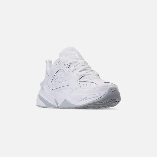 the best attitude 9e316 3a87a Three Quarter view of Men s Nike M2K Tekno Casual Shoes in White Pure  Platinum