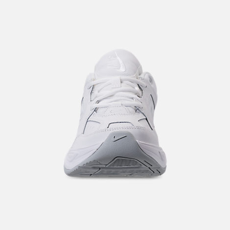 Front view of Men's Nike M2K Tekno Casual Shoes in White/Pure Platinum