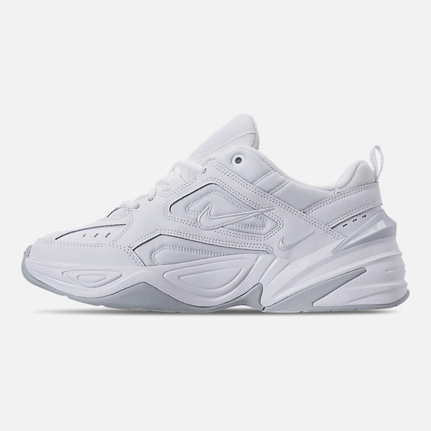 Left view of Men's Nike M2K Tekno Casual Shoes in White/Pure Platinum