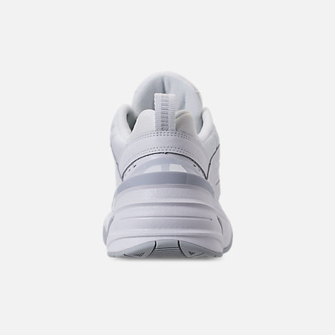 Back view of Men's Nike M2K Tekno Casual Shoes in White/Pure Platinum