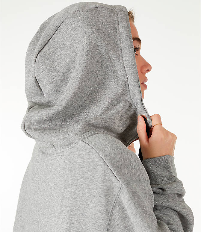 Detail 2 view of Women's Nike Sportswear Air Crop Half-Zip Hoodie in Grey/Rose Gold